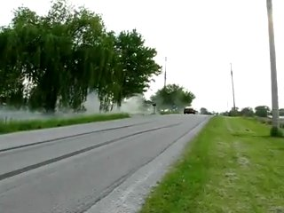 Big block camaro burnout